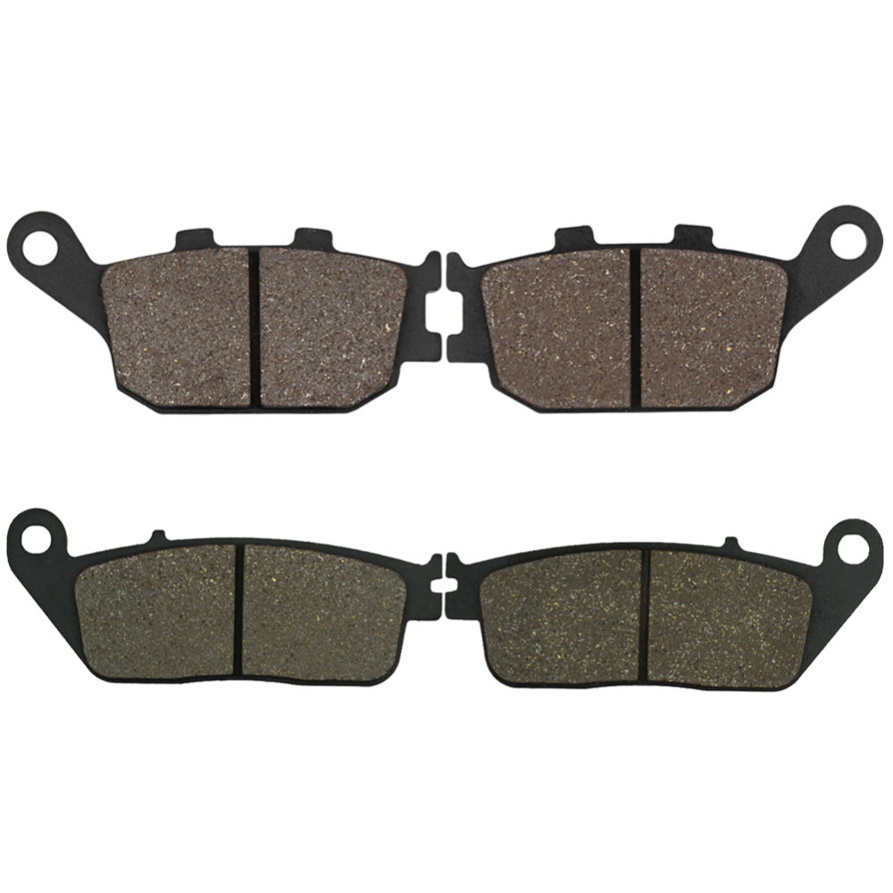 Cyleto Motorcycle Front and Rear Brake Pads for HONDA VT1100C2 VT 1100 C2 95-05 VTX1300 VTX 1300 03-08 CBF 500 CBF500 2004 motorcycle front and rear brake pads for honda xl700v transalp non abs 2008 2014 xl600 97 99 xl650 00 07 xrv750 94 03