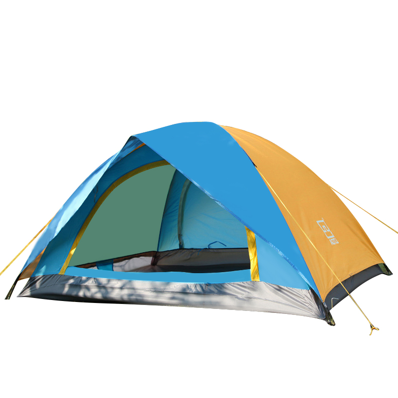 1-2 Person Double Layers Outdoor Camping Tent One Bedroom Waterproof Hiking Picnic Adventure Camping Climbing Four-season Tents 3 4 person double layers outdoor camping tent quick automatic opening waterproof hiking picnic adventure tent four season tent