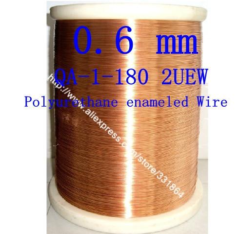 Fil de cuivre émaillé par polyuréthane de 0.6mm * 20m / pcs QA-1-155 2UEW