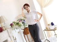 2016 Summer Style Blouse Women Fashion White Cotton Elegant Shirt Female Work Wear Office Ladies OL Tops Women Clothing