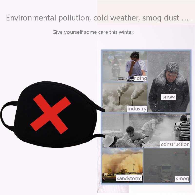 Moledodo Mặt Nạ Cotton Miệng Màu Đen Chống Haze Khẩu Trang Lọc Chống Gió Miệng-Rọ Mõm Vải Mùa Đông Chăm Sóc Sức Khỏe Dày khẩu Trang