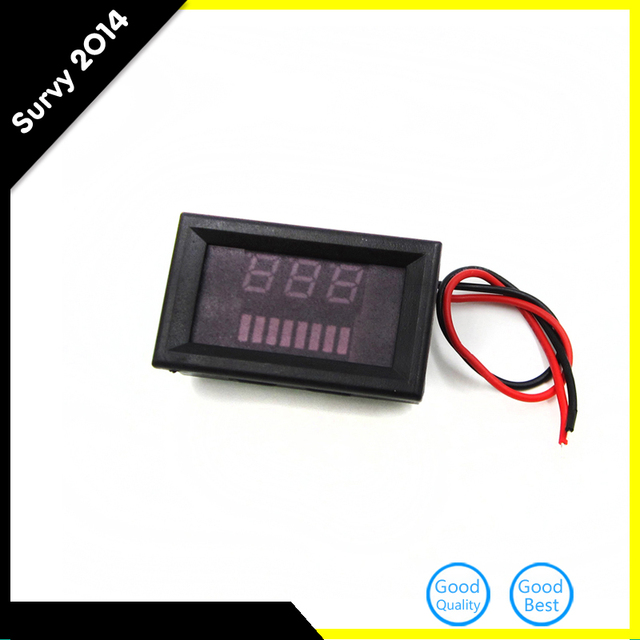 dc 12v acid lead batteries indicator battery capacity red led