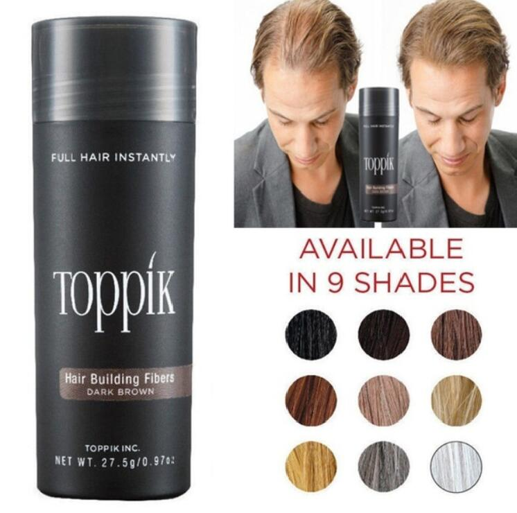 27,5 г волос строительных волокон и спрей аппликатор Полный волос порошок кератина Toppik волокна волос для лечения выпадения волос