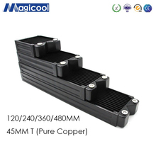 Magicool G2 120/240/360/480mm black/white water cooling pure copper radiator,Fit 12cm fan 45mm thick ,Seller Highly Recommend