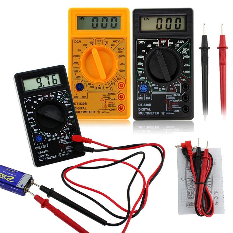 Multimetr cyfrowy LCD DT-830B Woltomierz elektryczny Amperomierz - Przyrządy pomiarowe - Zdjęcie 3