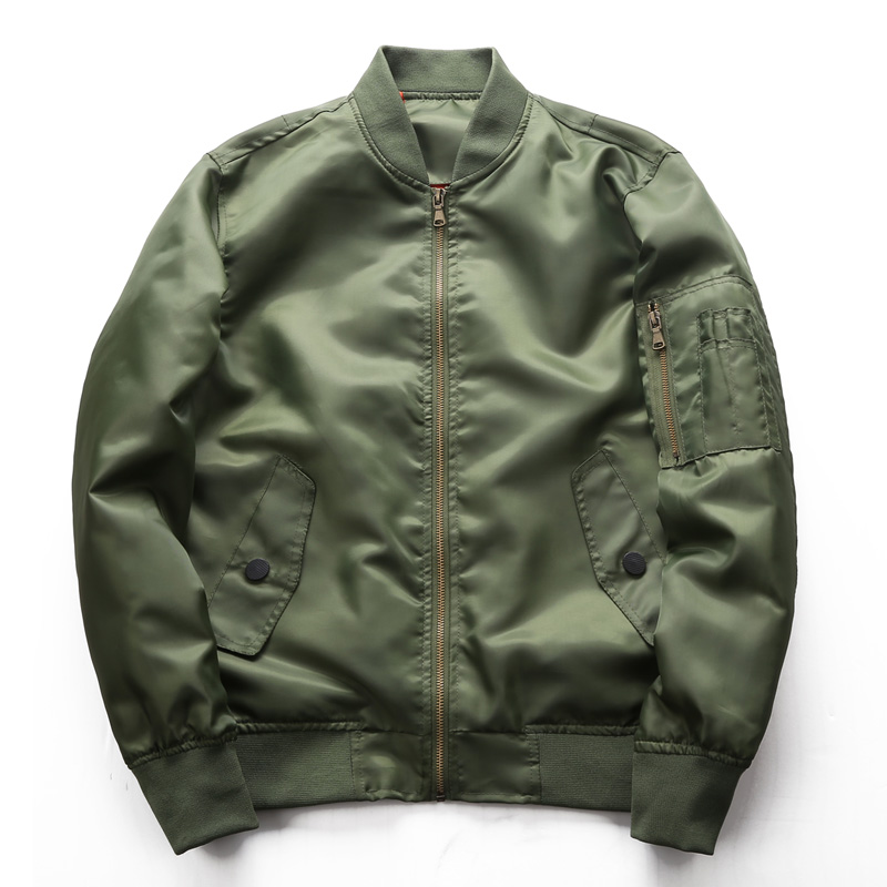 DAVYDAISY 2018 New Arrival Autumn Men Bomber Jacket Fashion Coat Plus Size M 6xl Mens Jacket Army Green Coat Outwear JK088
