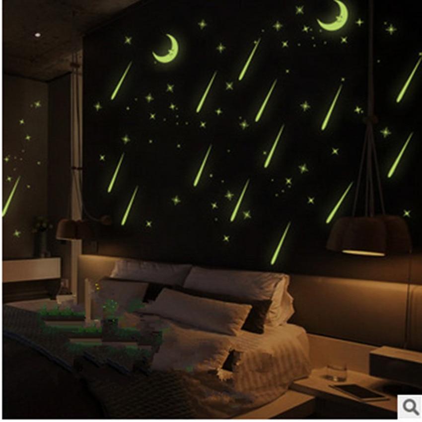 DIY Bedroom Living Room Ceiling Decorative Meteor Shower Romantic Night Sky Luminous Fluffy Decorative Decorative wall stickers