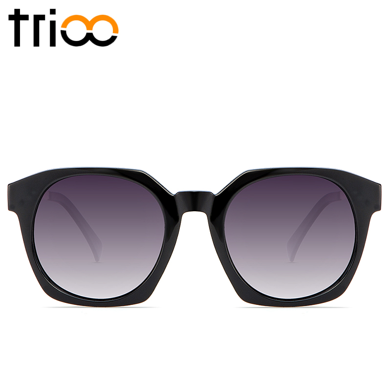 TRIOO Cutting Style Frame Ladies Sunglasses font b Fashion b font Multicolor Temple Shades Women font