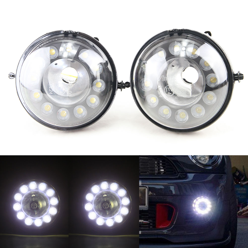 LED Daytime Running Lights DRL Turn Signal Lamps 24 LED for Mini Cooper R56 R57 Car Styling Auto Front Bumper Light new led daytime running lights drl with halo ring angel eyes for mini cooper rally driving lights front bumper 6000k 1900lm auto