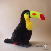 Education Props Toy Toucan Simulation Troll Bird Doll Plush Toys Children Holiday Gifts Early