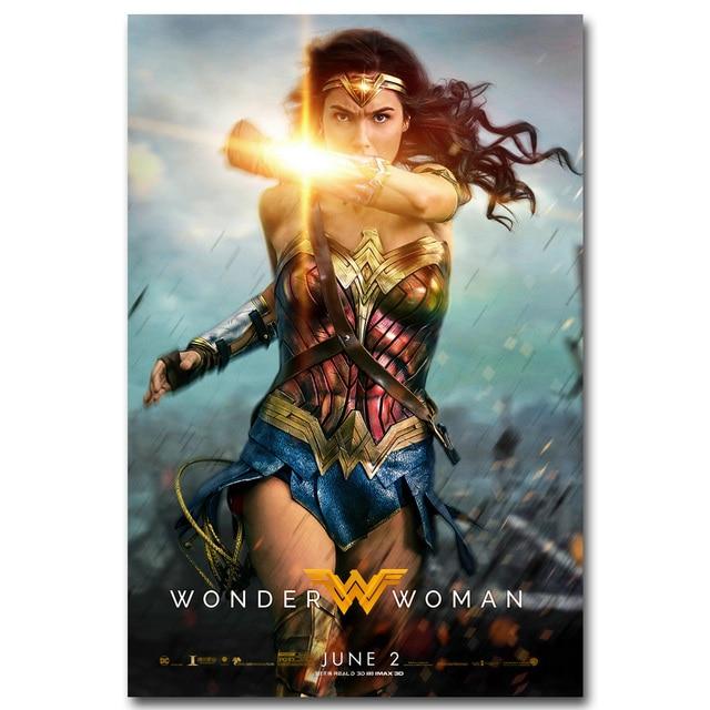 Плакат гобелен шелковый постер Чудо женщина Wonder Woman в ассортименте