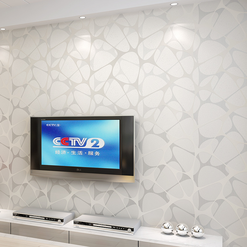 Cheng Shuo non woven wallpaper wallpaper stripe stereo sederhana
