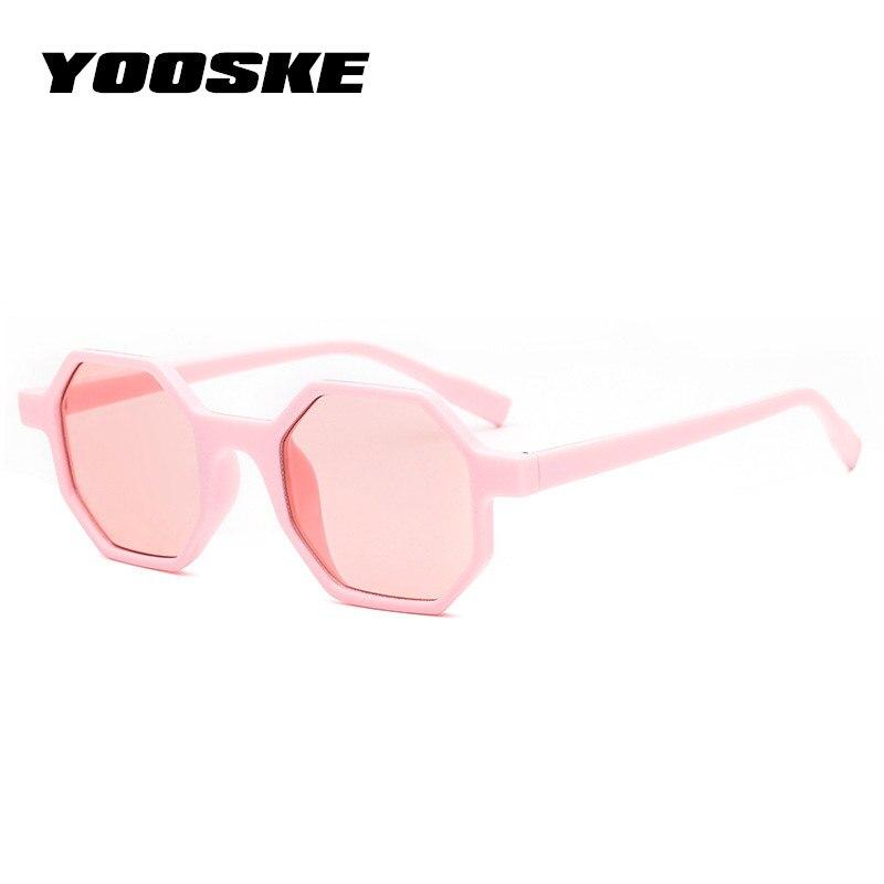 YOOSEK mujeres de lujo gafas de sol marca diseñador pequeña poligonal 90 s Sunglass Square Shades mujer Retro Octagon gafas