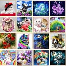 New Diy 5d diamond painting cartoon animal landscape flower round mosaic home decoration embroidery pattern cross stitch