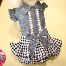 Милая ковбойская летняя собака, домашняя кошка, юбка-пачка, платье, жилет для собаки, куртка, пальто, одежда для домашнее животное Чихуахуа Йоркширский терьер, одежда