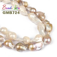 14 28mm Natural Irregular Baroque White Purple Freshwater Pearl Beads for Jewelry Making Loose Spacer Bead Diy Necklace Bracelet