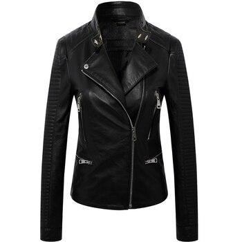 DAJANE Locomotive Real Sheep Skin Leather Women Leather Motorcycle Jacket  Girls Coat Jacket Real Leather  Chelsea Jacket