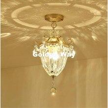 Envío Gratis 1L color Champagne Nordic Vintage lámparas colgantes retro E27 LED lámpara de cristal Tulipa iluminación colgante accesorio de luz
