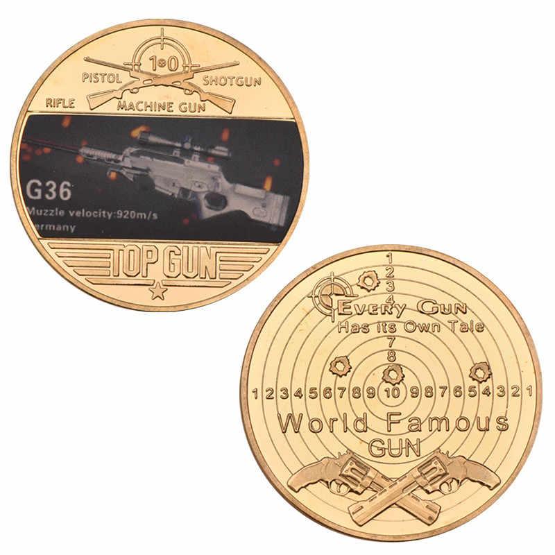 Mesin Pertarungan Senjata Senapan Senapan Mesin Ringan Koin Koleksi Perunggu Non-Mata Uang Menyalin Koin Koleksi Ulang Tahun Hadiah Natal