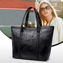 Genuine Leather Black Big Bag for Women Sac a Main Femme De Marque Luxe Cuir 2019 Shoulder Torebki Damskie Designer Bags Handbag стоимость