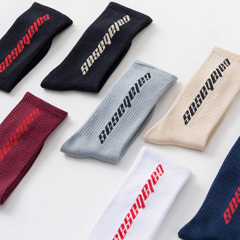 Fashion Men Cotton Socks Women Streetwear Kanye West Ins Crew Socks Hip Hop Letter Calabasas Socks Long Skateboard Sock(China)