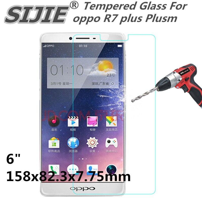 R7 plus Plusm capa protetor de Tela de Vidro temperado Para oppo 6 polegada smartphone caso temperado 9 H em cristais finos plástico transparente