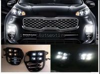 OEM LED Fog Light Lamp Daytime Running Light Set For KIA Sportage QL kx5 2016 20172018 2019