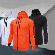 Осень зима спортивная куртка с длинным рукавом Обучение Бейсбол любителей  пальто Run Бодибилдинг Спортивная Толстовка футбол e1234ca9e5c