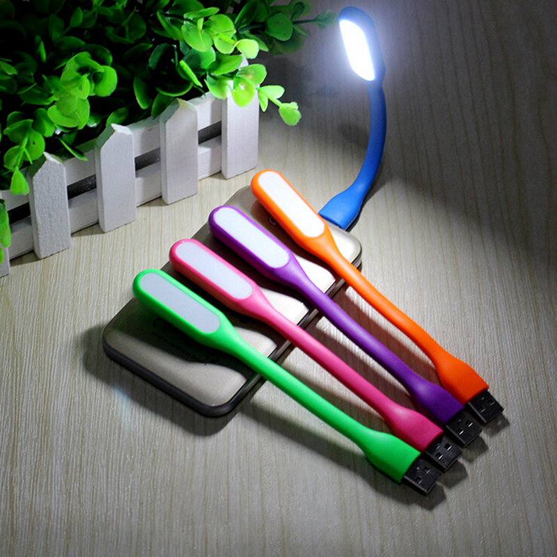 1ks mini led USB Light book lampa Chráněné čtecí světlo pro notebook Notebook Tablet PC Power Bank Flexibilní LED noční lampa