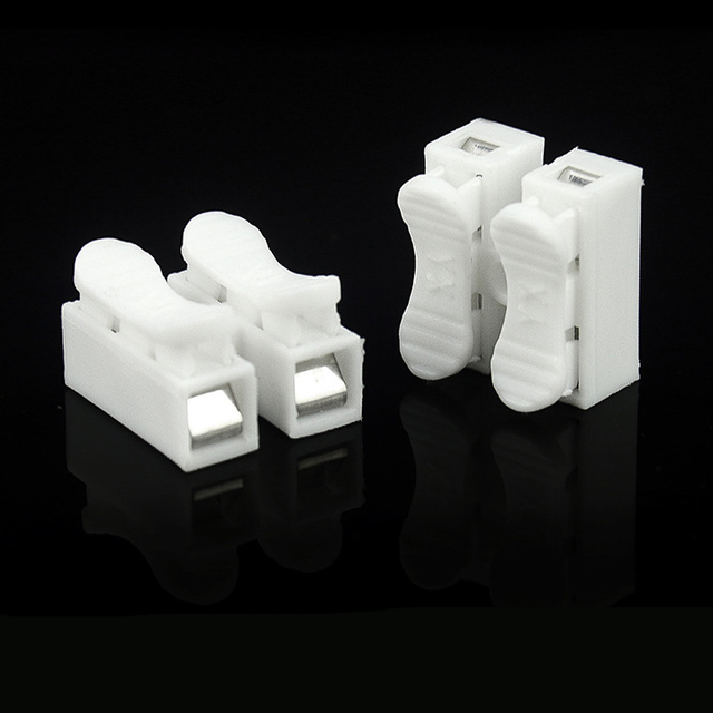 10pcs CH-2 Press Type Electric Connection Quick Wiring Terminal for LED Lighting  LB88