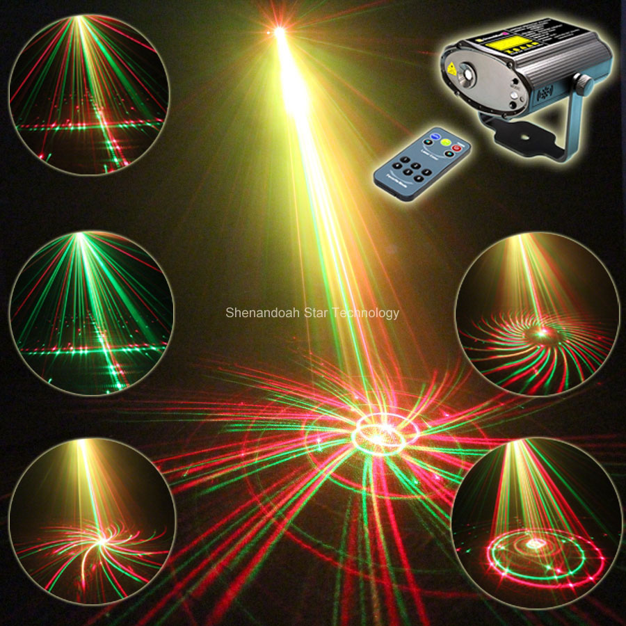 Mini R&G Laser Big 24 Patterns Projector Dance Disco Bar Family Party Xmas Stage Lights DJ environment lighting Light Show T93