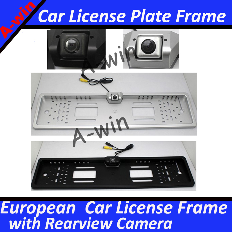 Eu European Car License Plate Frame With Rear View