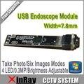 Factory Outlet Mais Novo Mini de 7.8mm Câmera de Inspeção Cobra Tubo Endoscópio USB Módulo para DIY com todos os Acessórios como Presente XR-IC2M