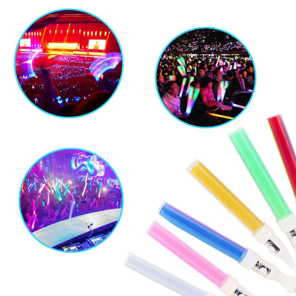 #151Pcs LED Light Stick Emergency Bright Fluorescent Sticks Color Changing Foam Baton Strobe For Party Festivals