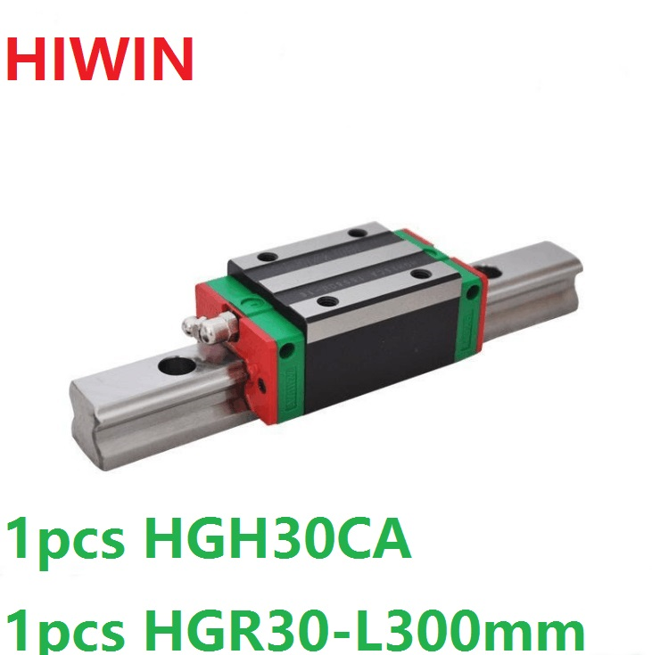 цена 1pcs 100% original Hiwin linear guide HGR30 -L 300mm + 1pcs HGH30CA narrow block for cnc router