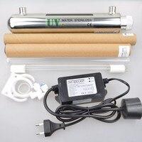12W UV Water Sterilizer Water Treatment System Aquarium Equipment RO System Ionizer Stainless Steel #304