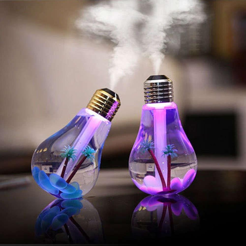 LED Lamp Air Ultrasonic Humidifier for Home Essential Oil Diffuser Atomizer Air Freshener Mist Maker with LED Night Light 420ml lavender air ultrasonic humidifier essential oil diffuser atomizer air freshener mist maker with led night light