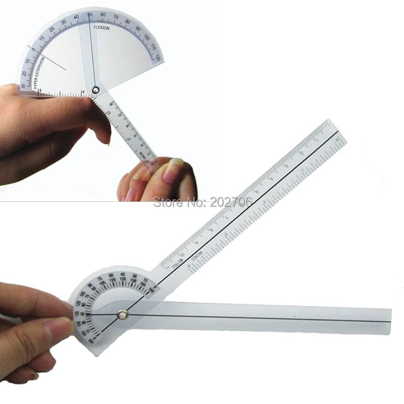 1 Satz Fingder Goniometer + 17 Cm Medizinische Goniometer Kunststoff Winkelmesser 180 Grad Winkel Lineal Finger Herrscher Medialen Herrscher