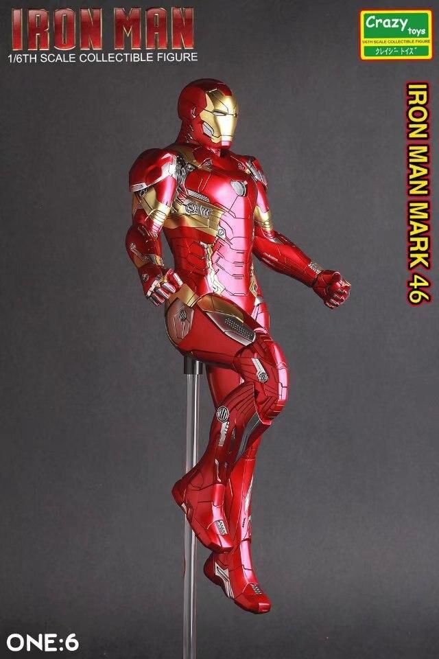 Locos fer 1/6 Escala de PVC pintado figura juguete modelo coleccibile 28 cm Ironman