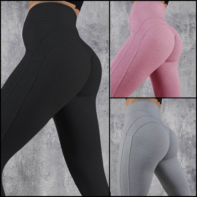 Women Seamless Leggings 2018 High Waist Good Elastic Fitness Pants Woman Workout Leggings Training Pants Solid Push Up Leggings