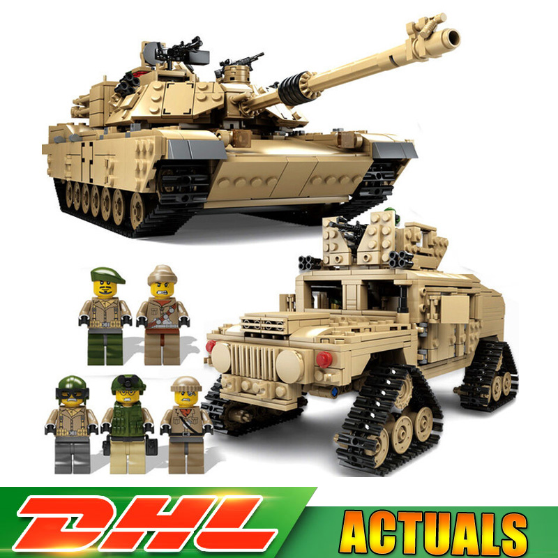 1643 Pcs KAZI Tank Building Blocks Blocks M1A2 ABRAMS MBT KY10000 Creative 1 Change 2 Tank Models Toys Compatible LegoINGlys 1643 pcs kazi tank building blocks blocks m1a2 abrams mbt ky10000 creative 1 change 2 tank toys compatible legoinglys gifts