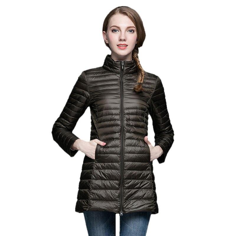 Aliexpress.com : Buy Ultra Thin Down Jacket Winter Coat Women Long ...
