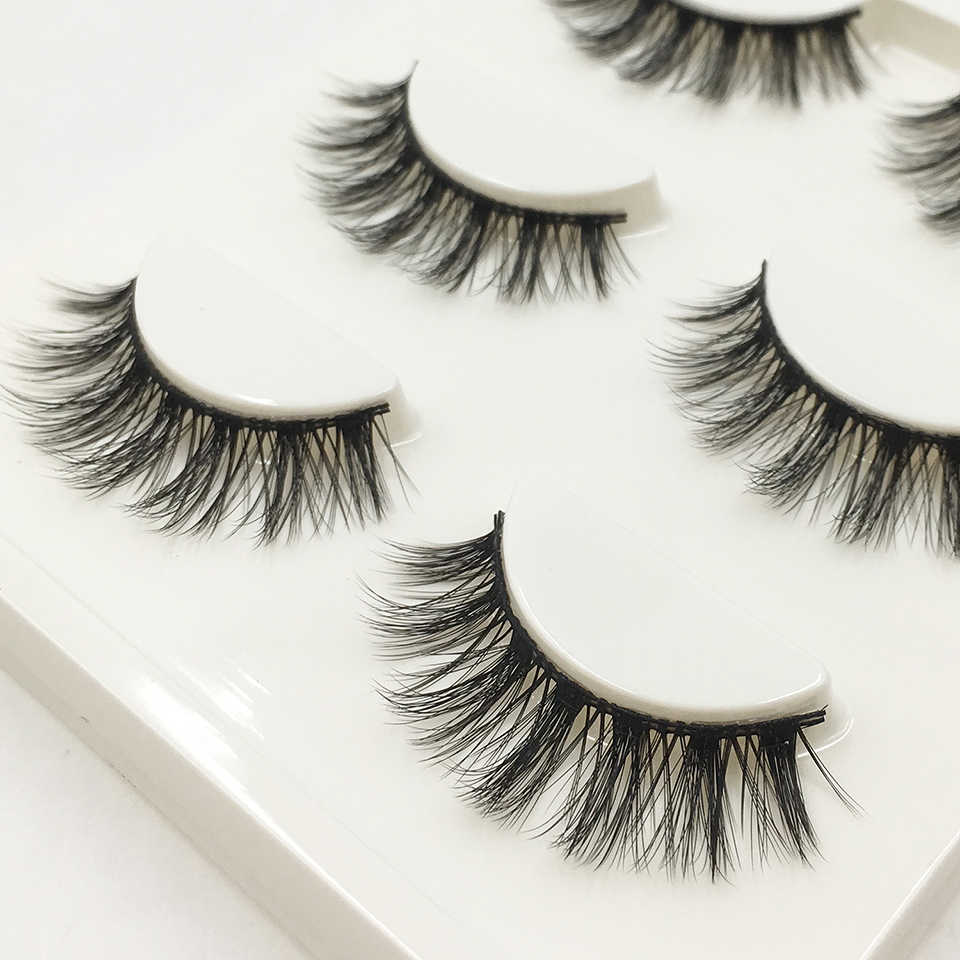 c725e06d635 YAQIMEIER Luxury Wispy Cross false Eye Lashes Supplies 3 Pairs / Box 3d  Faux Mink Lashes