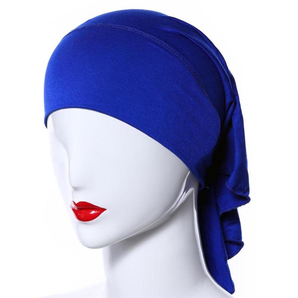 20 Colors Ramadan Modal Muslim Inner Hijab Caps Islamic Underscarf Hats Ninja Hijab Women\'s Hijabs