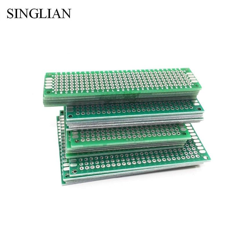 20pcs/lot 5x7 4x6 3x7 2x8 CM Double Side Copper Prototype PCB Universal Board Experimental Development Plate For Arduino