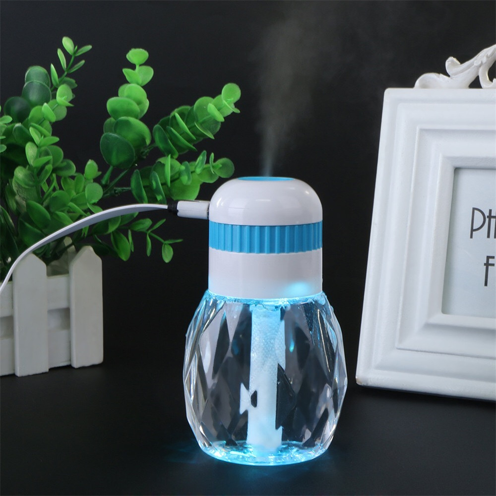 230Ml Mini Bottle Air Humidifier With Ultrasonic Vibration 6 Colors Changing LED Light Mist Maker With Auto Power Off Protection