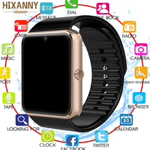 Купить с кэшбэком 2019 Newest Bluetooth Smart Watch Men GT08 With Touch Screen Big Battery Support TF Sim Card Camera For IOS iPhone Android Phone
