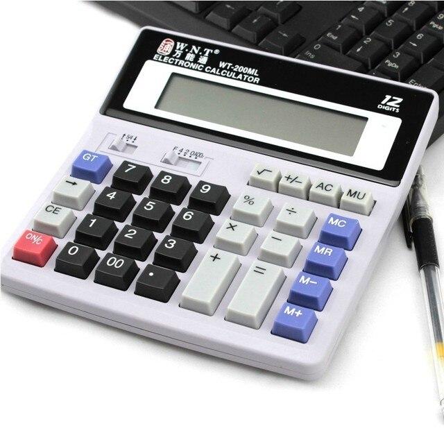 200ml Desktop Computer Business Financial Calculator Office Supplies Stationery Battery Account Calculate