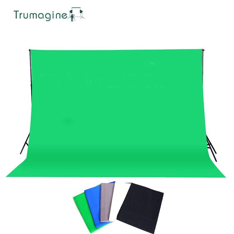 3x3 M vert Photo arrière-plan toile de fond photographie studio écran vert Chroma fond clé solide couleur coton mousseline fond