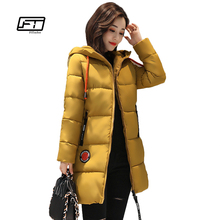 Fitaylor Female 2017 Fashion Winter Jacket Warm Women Cotton Coat Long Sleeve Hooded Women Outerwear Parka Thick Plus Size Coats